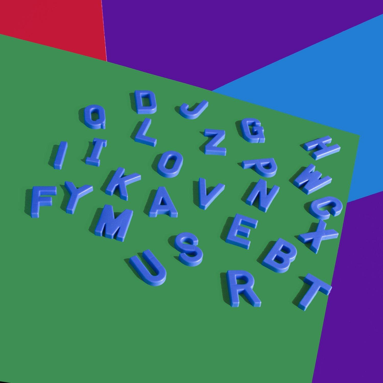 Alphabet Letters (Blue)