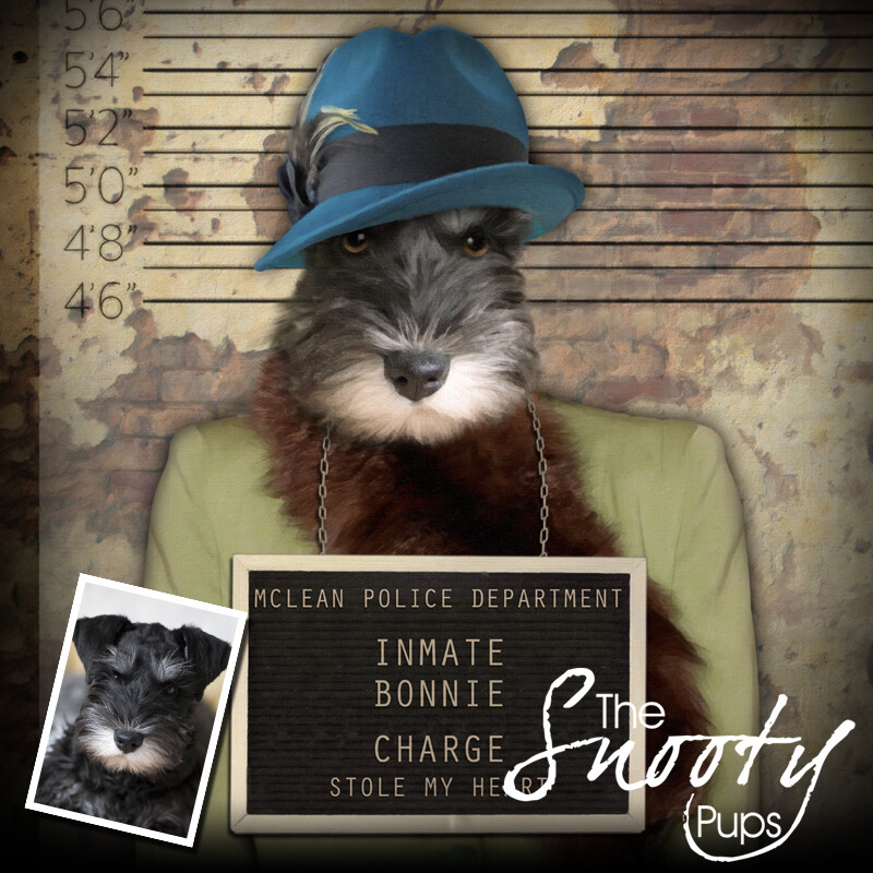 Custom Dog Portrait - Gangster Mobster