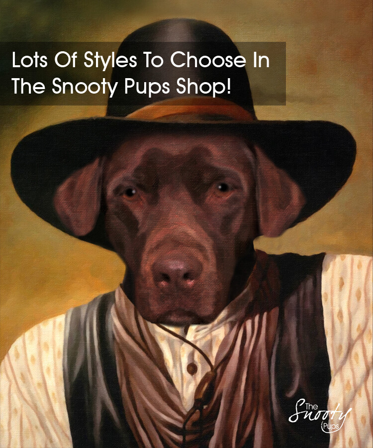 Dog Cowboy Custom Dog Portrait