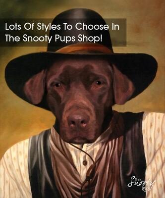 Dog Cowboy Custom Dog Portrait