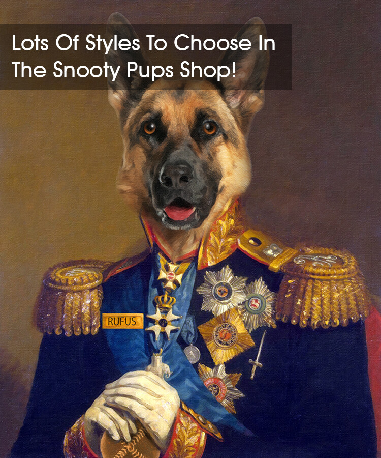 Custom Dog Portrait - Military
