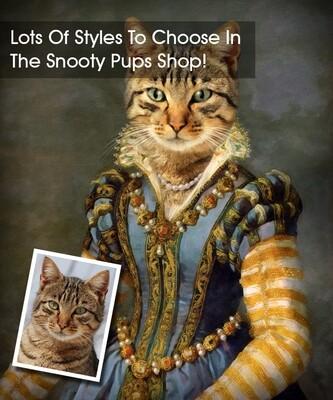 Cat Portrait - Renaissance Lady