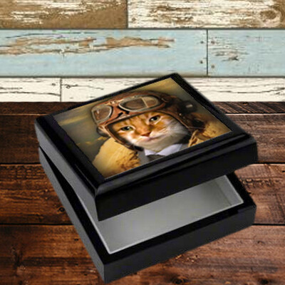 Custom Pet Portait Keepsake Box