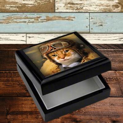 Custom Pet Portait Keepsake Box