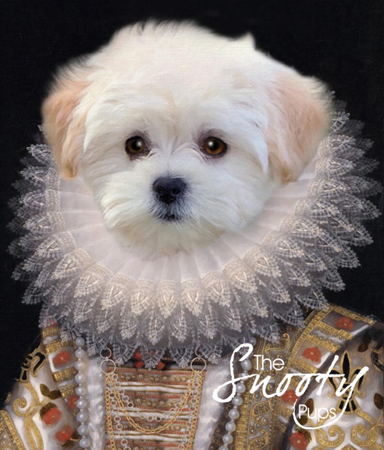 Custom Dog Portrait - Queen Nola