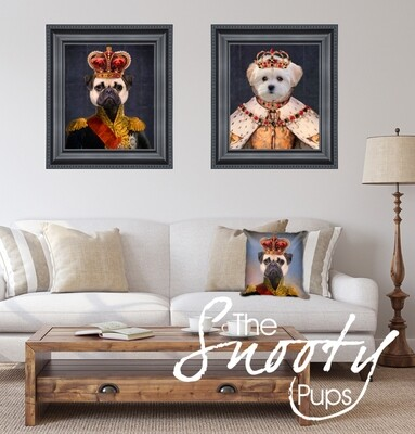 Dog Portrait - King and Queen