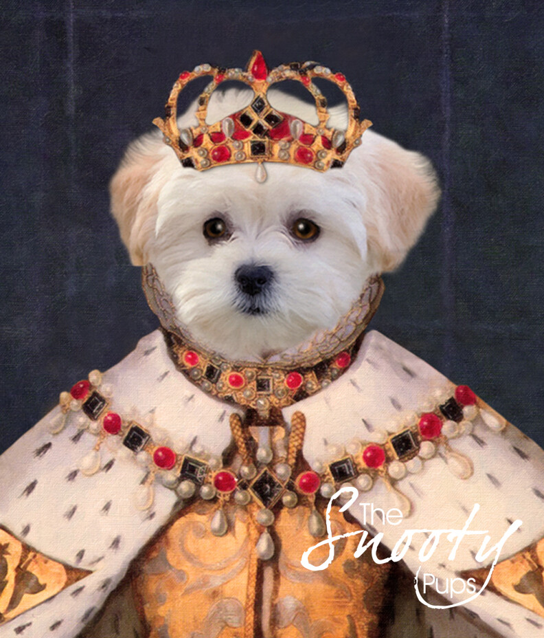 Custom Dog Portrait - Queen
