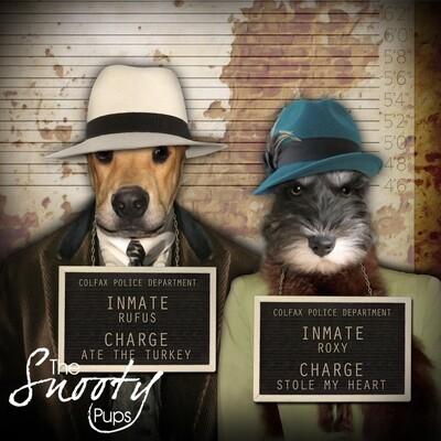 Custom Couple Pet Portrait - Mobster