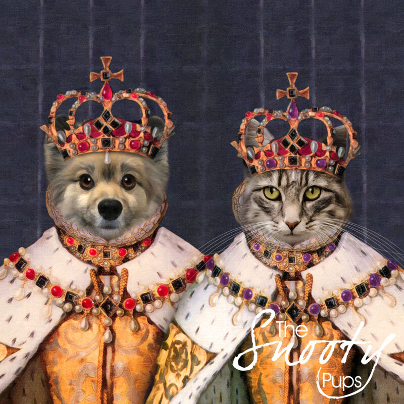 Custom Couple Pet Portrait - Queen & Queen