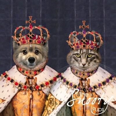 Custom Couple Pet Portrait - Queen & Queen