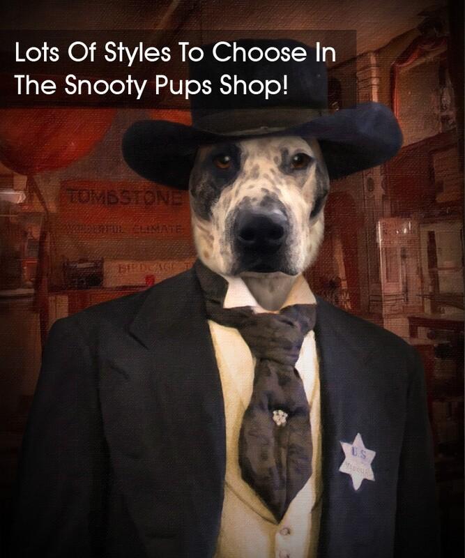 Wyatt Earp Cowboy Custom Dog Portrait