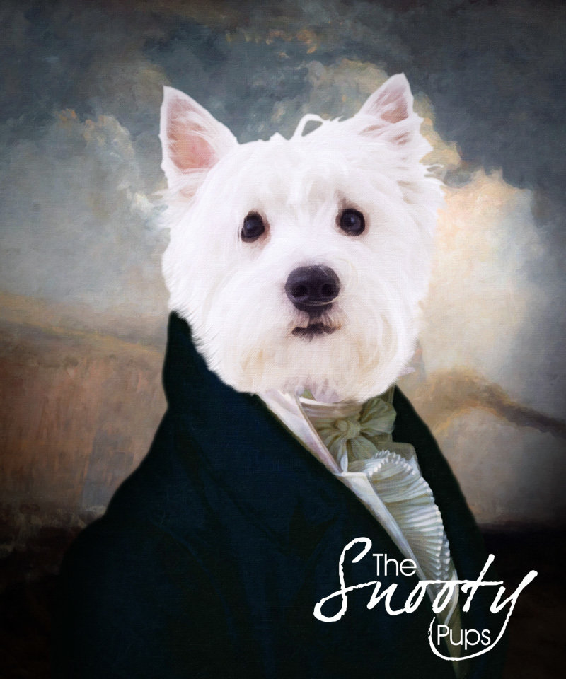 Custom Dog Portrait - Gentleman
