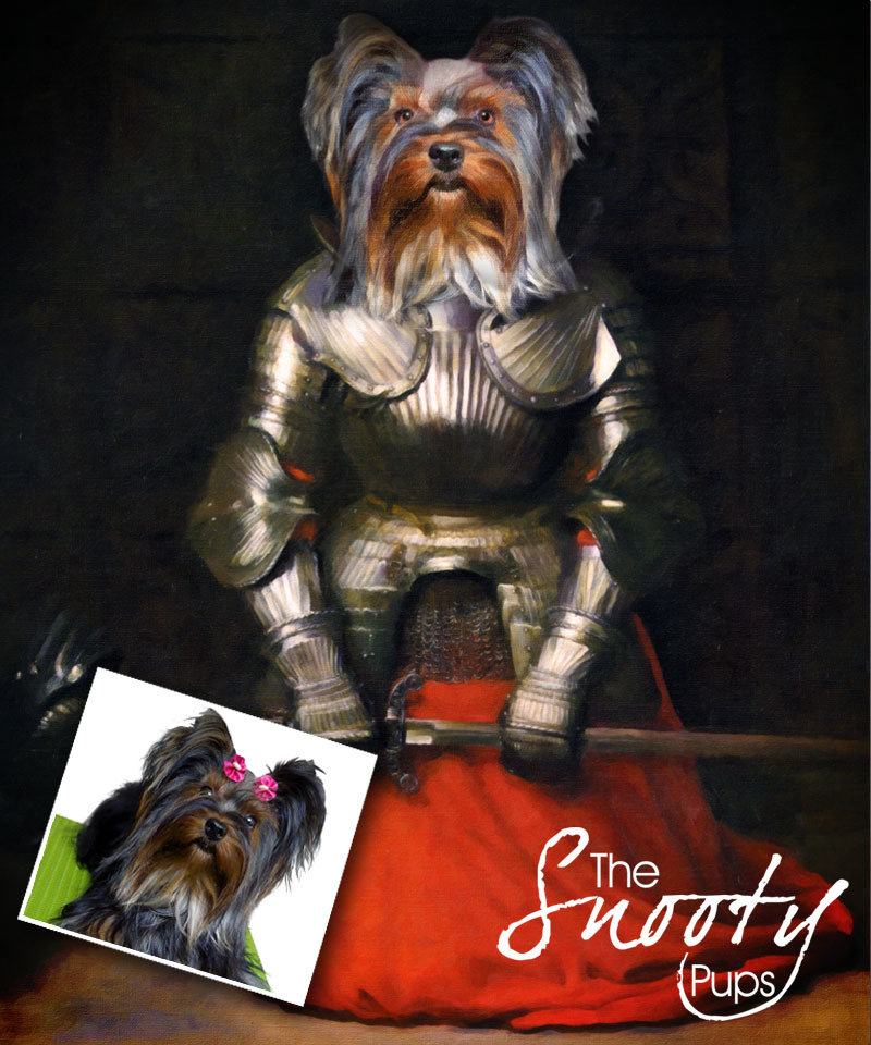 Custom Dog Portrait - Joan of Arc