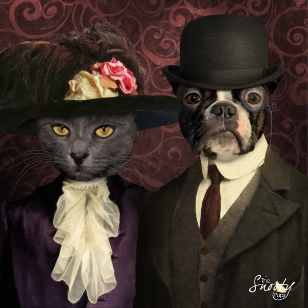Custom Pet Portrait - Vintage Couple