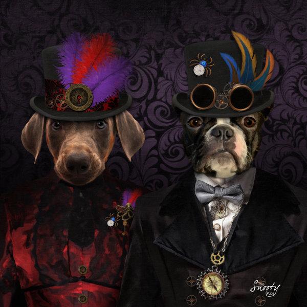 Custom Pet Portrait - Steampunk Couple
