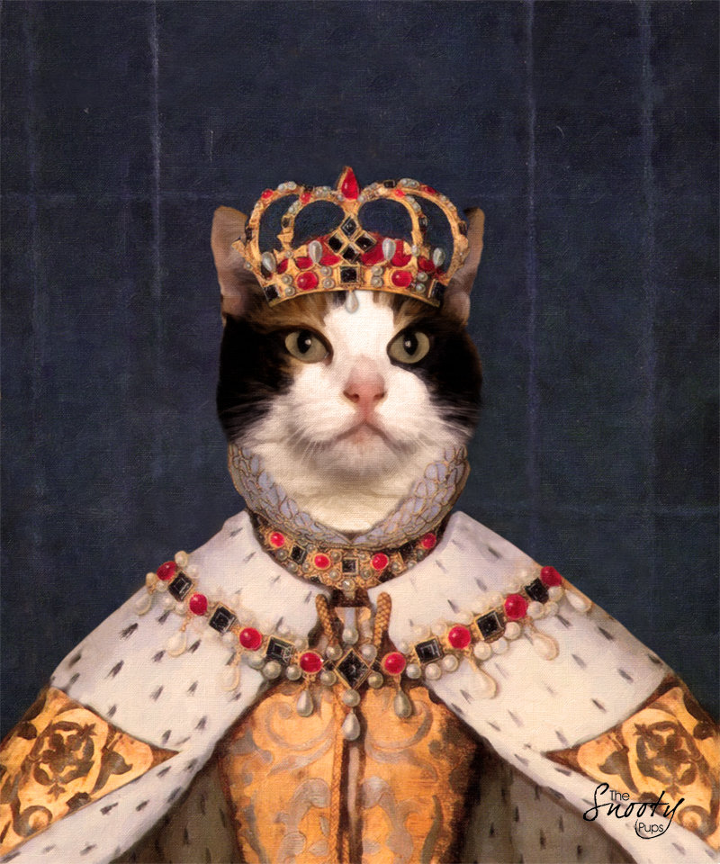 Custom Cat Portrait - Queen