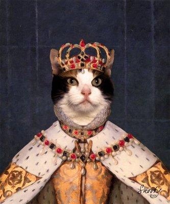 Custom Cat Portrait - Queen