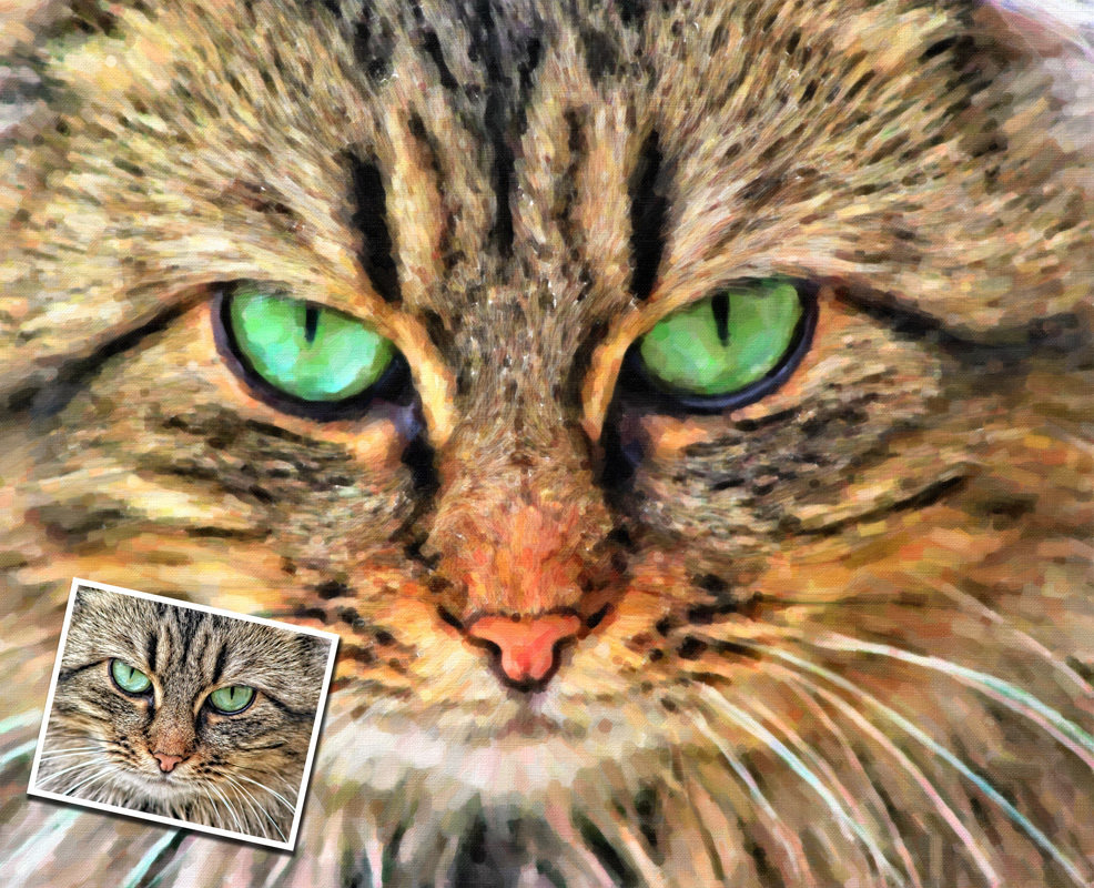 Custom Cat Portrait Oil Painting Print