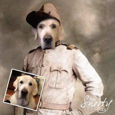 Custom dog Portrait - Theodore Roosevelt