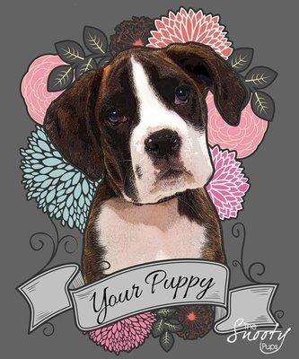 Custom Dog Portrait Tattoo Style