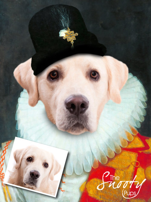 Renaissance Dog Portrait