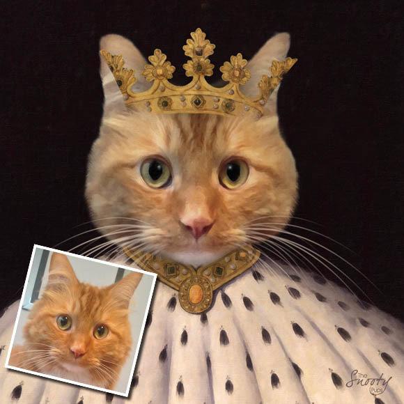 Custom Cat Portrait King