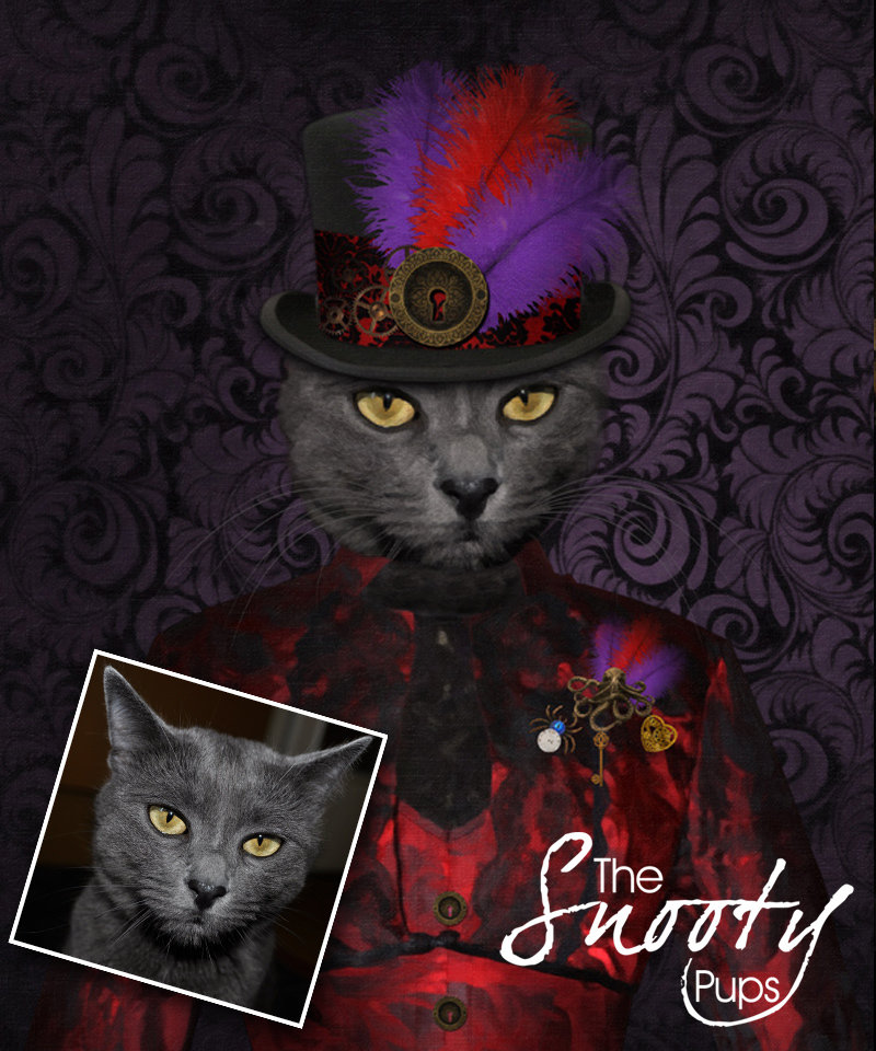 Custom Cat Portrait - Steampunk