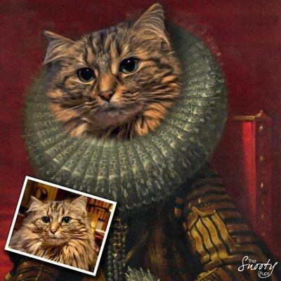 Custom Cat Portrait - Victorian