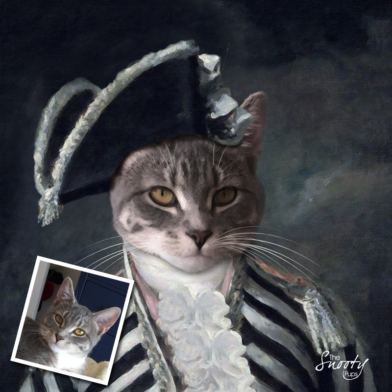 Custom Cat Portrait - Vintage