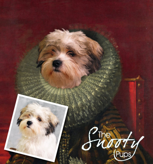 Custom Dog Portrait - Victorian