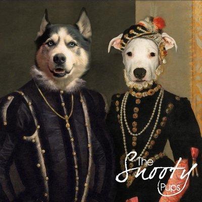 Custom Couple Pet Portrait - Renaissance