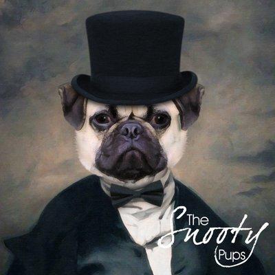 Premade Pug Print, Dog Portrait