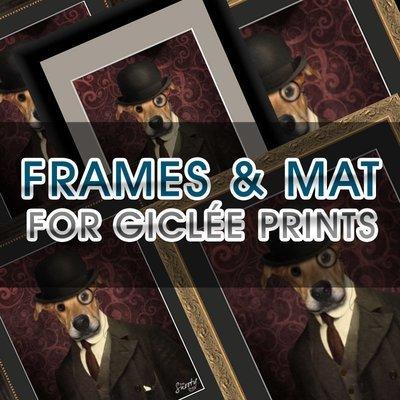 Frame & Mat Add-On For Giclée Print