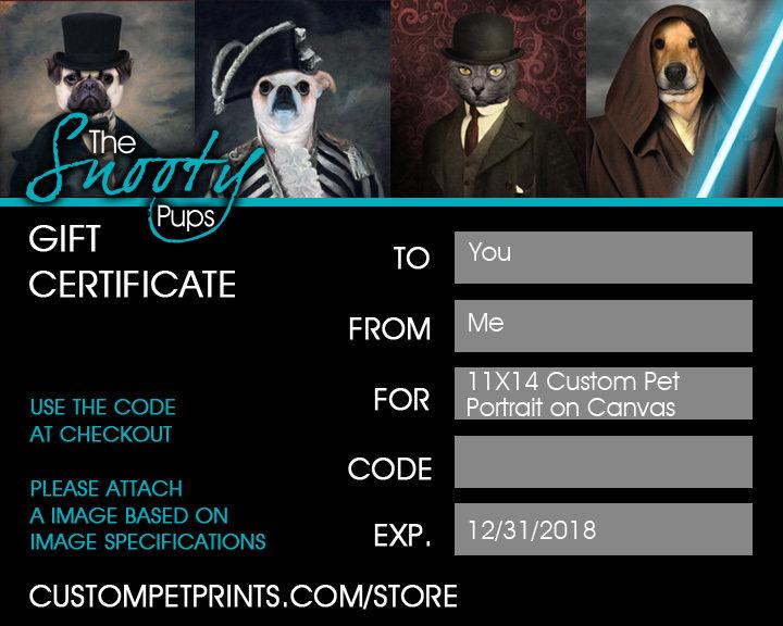 Pet Portrait Gift Certificate