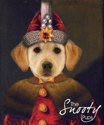 Dracula Dog Portrait