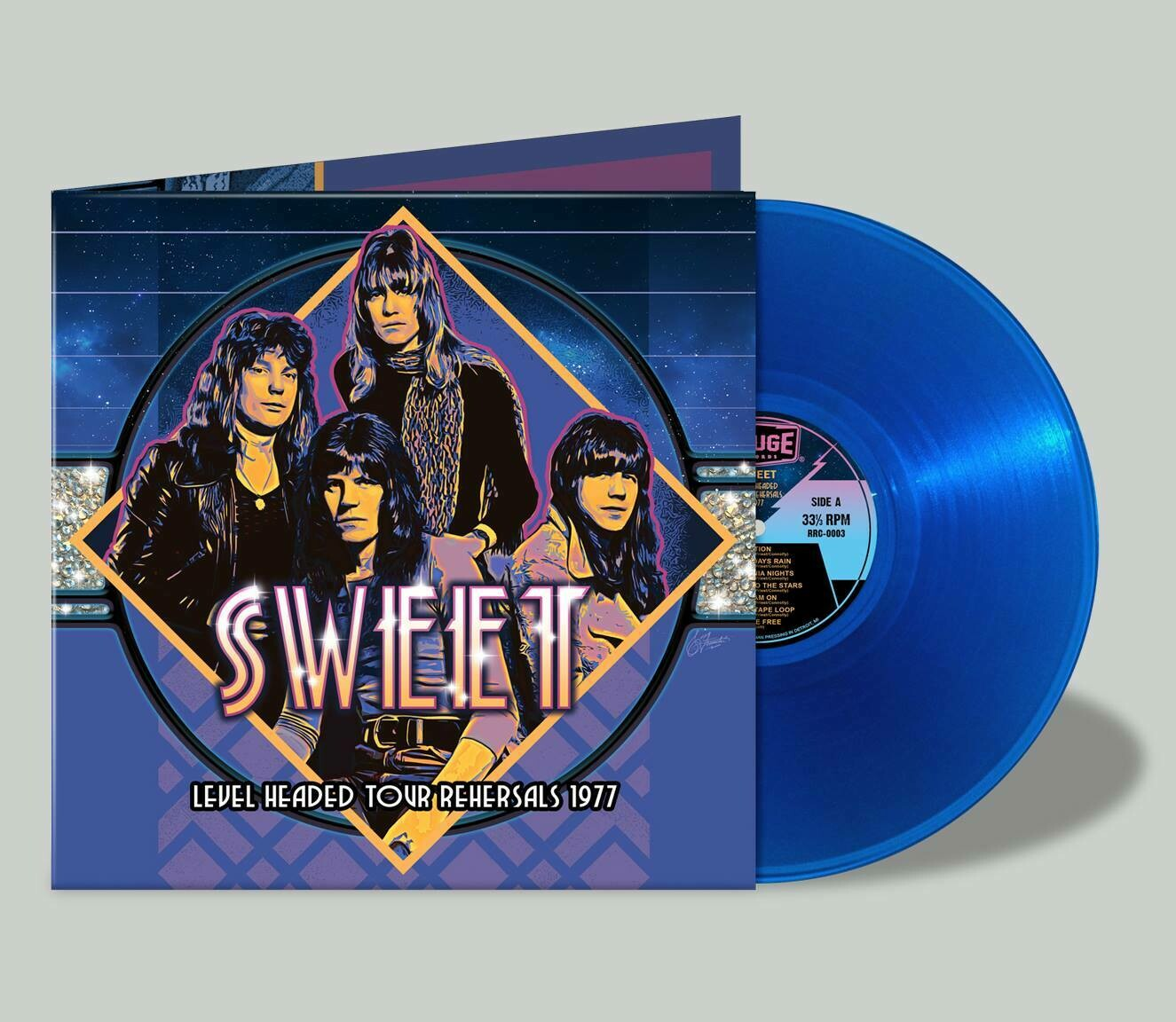 """Sweet """"Level Headed Tour Rehearsals 1977"""" -- Limited Edition Blue Vinyl (ONLY 9 Left)"""
