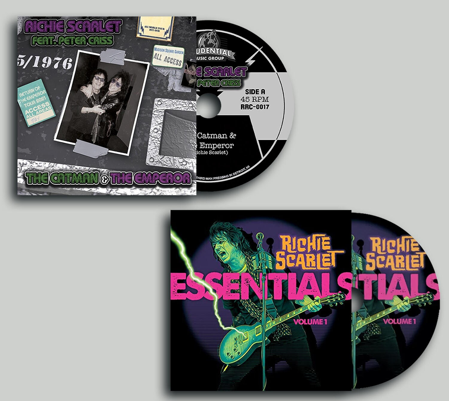 "Richie Scarlet Feat. Peter Criss ""The Catman & The Emperor"" - CD Bundle (PRE-ORDER)"