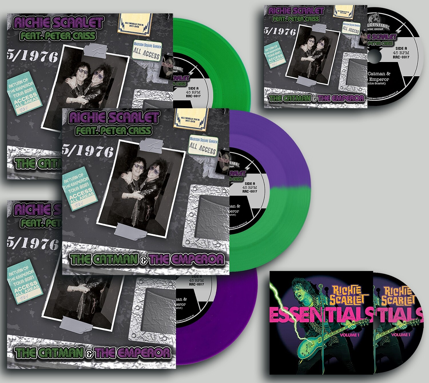 """Richie Scarlet Feat. Peter Criss """"The Catman & The Emperor"""" - Emperor's Package (PRE-ORDER)"""
