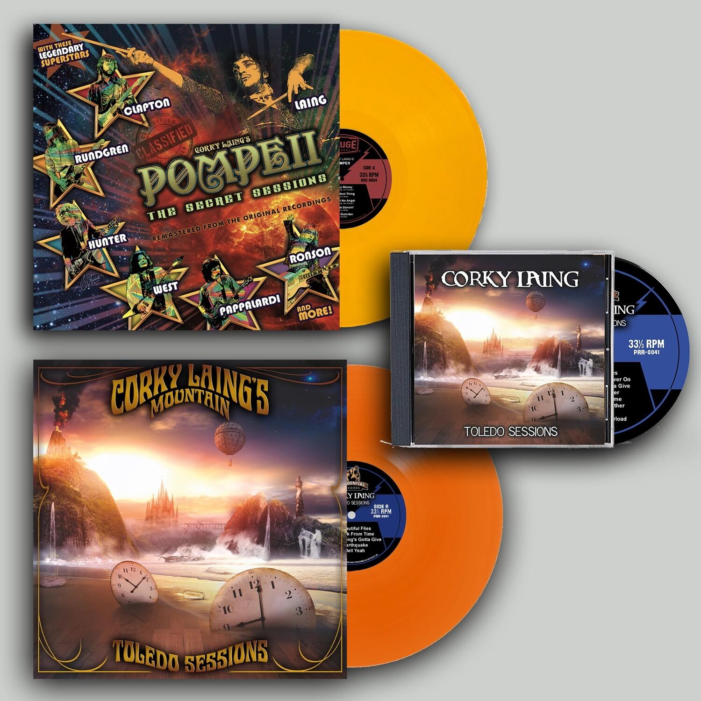 Corky Laing Vinyl & CD Bundle