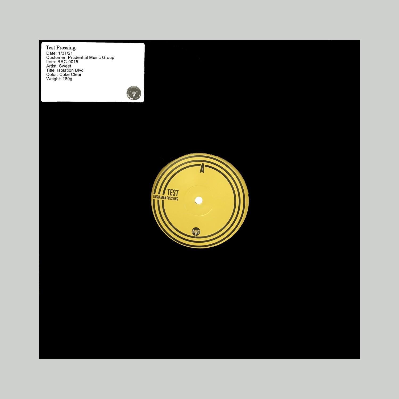 "Sweet ""Isolation Boulevard"" -- Vinyl TEST PRESSING"