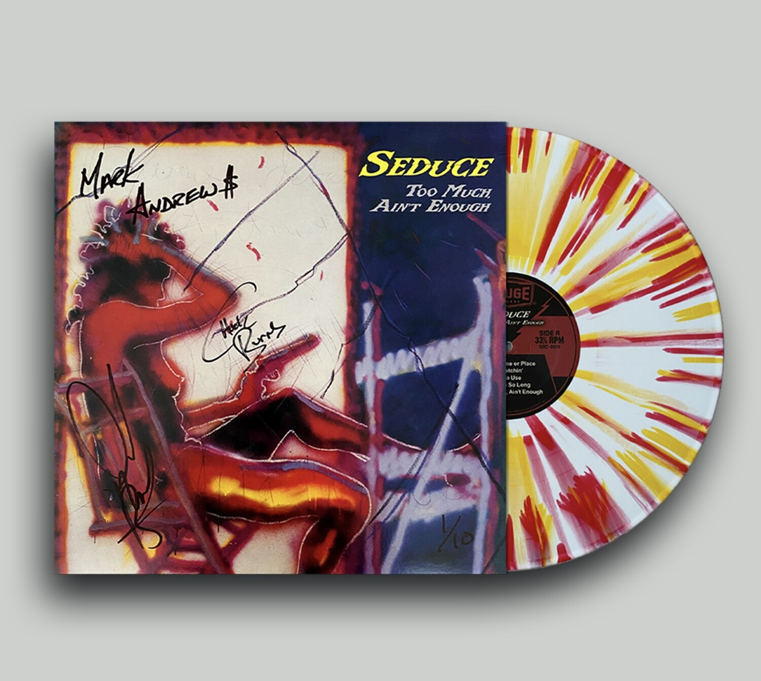 "Seduce ""Too Much Ain't Enough"" - Limited Edition Red, White & Yellow Vinyl (SIGNED)"