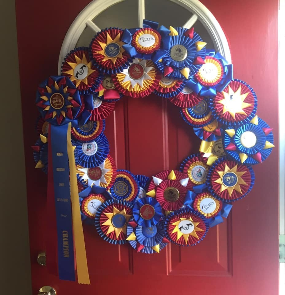 "Rosette Ribbon Wreath - 16"", 18"""