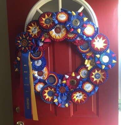 Rosette Ribbon Wreath - 16