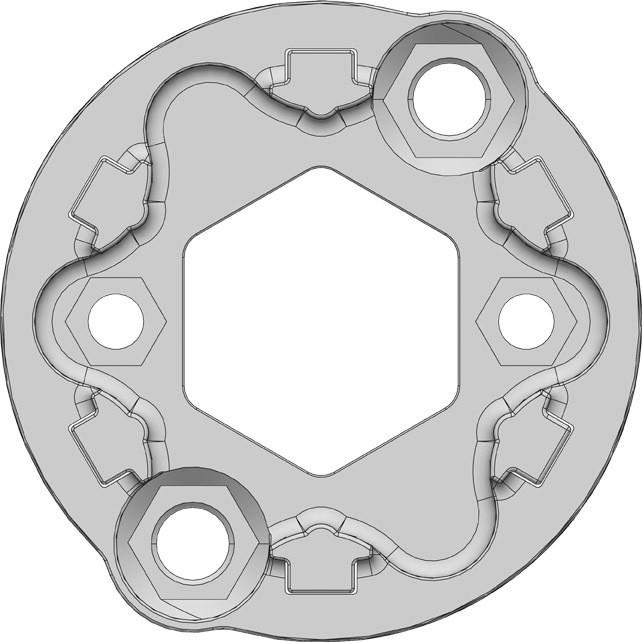 Support Universel Zamac - moteur Gaposa Serie 50 / 60