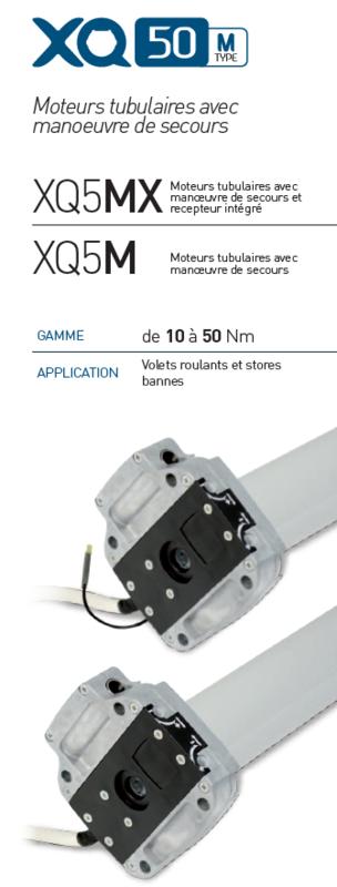 Moteur Filaire 40 Nm Gaposa XQ5 M4017  pour Volets et Stores