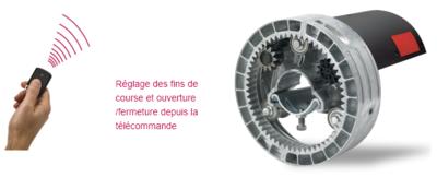 Nouveauté - Moteur Central Radio SIMU pour Rideaux et Grilles - Axe 60 mm