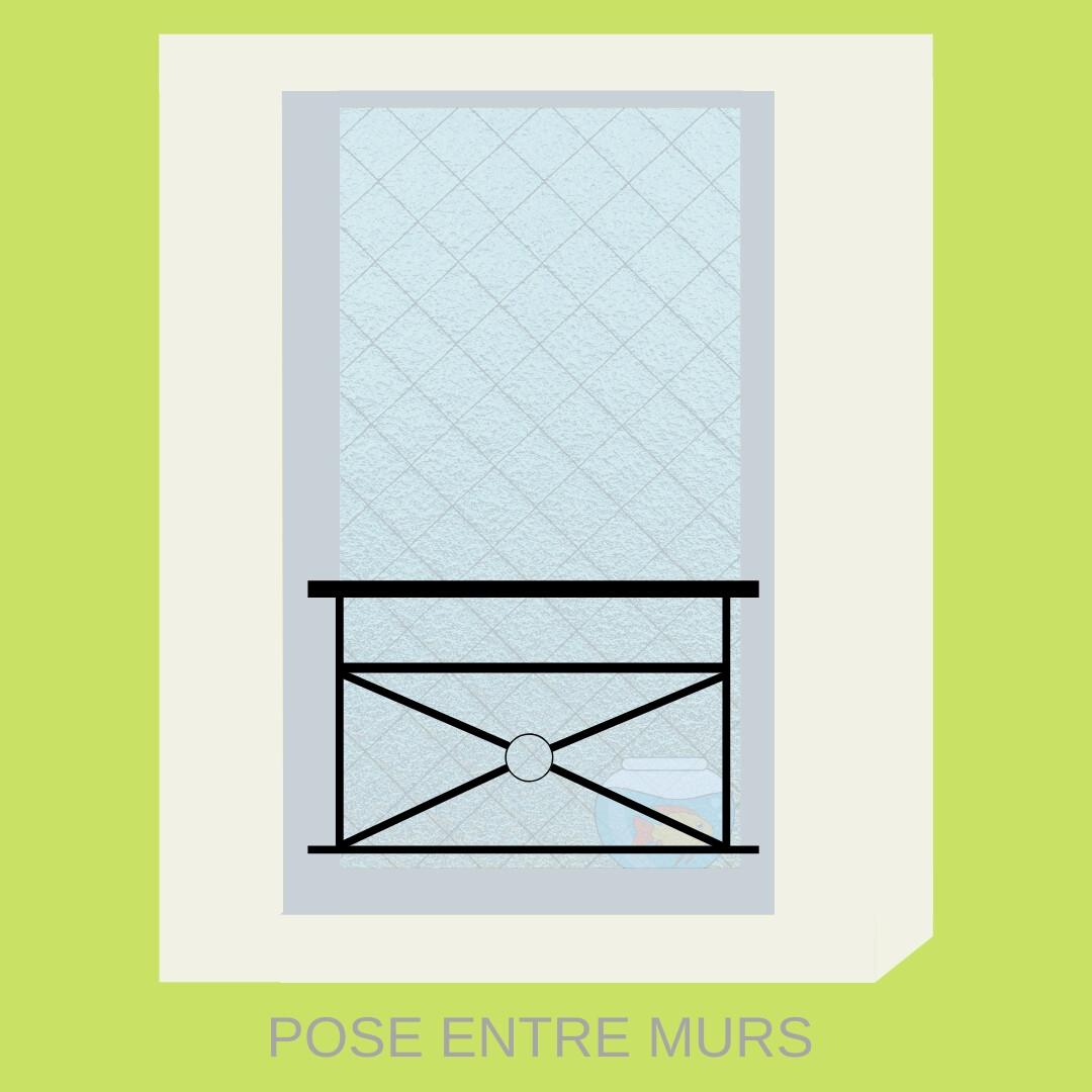 Garde corps pour Fenêtre Sur-mesure - Modèle H : GCFH