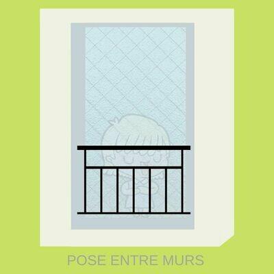 Garde corps pour Fenêtre Sur-mesure - Modèle B : GCFB