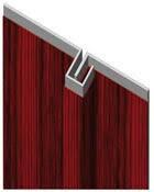 Plat de battement - Anti-pinces pour portes 2 vantaux