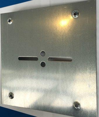 Plaque d'enroulement 340 mm pour rideau à axe compensé